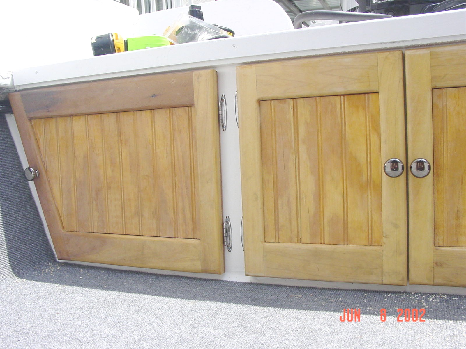 How do you build a wooden bulkhead door